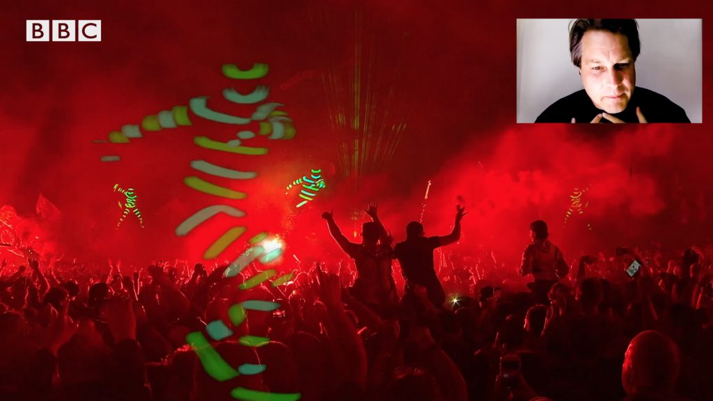 Adam Smith, co-creative director of the live show The Chemical Brothers, recounts two iconic Glastonbury performances from 2000 and 2019 in this video published by BBC MUSIC.