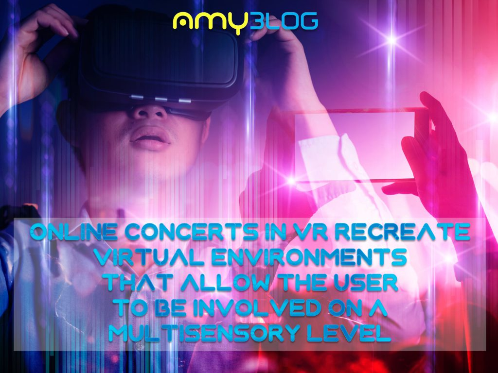 Online concerts in VR recreate virtual environments